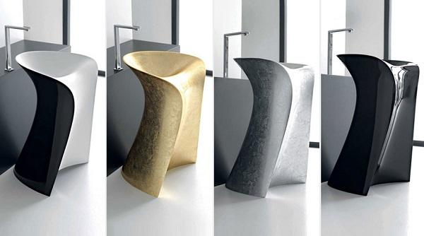 It is a washbasin user-friendly, whose front surface has been designed ...