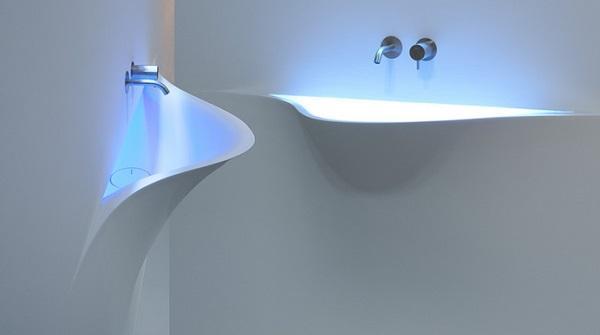 Lavabi sinuosi in bagno: antoniolupi, Silenzio