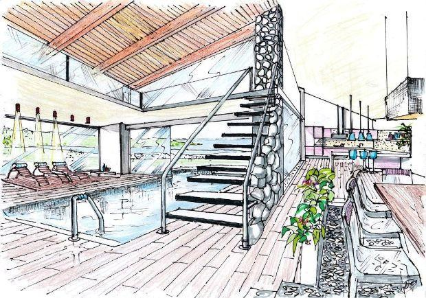 disegno veranda Design : POOL DESIGN EFFECT THE SEA, IN THE HOUSE