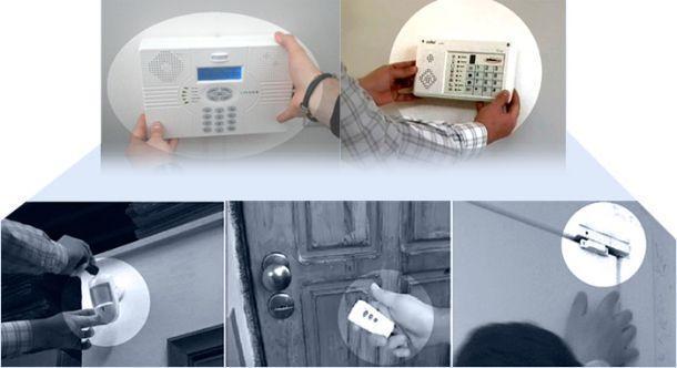 Kit di allarme antifurto senza fili per la casa: installazione