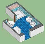 organizzazione del bagno esistente