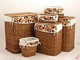 Cesti e scatole di bambù di stile tradizionale, dal catalogo dell'Azienda Cestenolvetri.