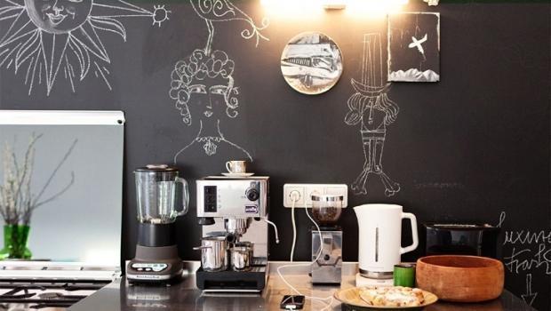 Pittura lavagna e magnetica - Vernice lavabile cucina ...