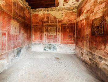 Un tipico interno di una domus pompeiana.