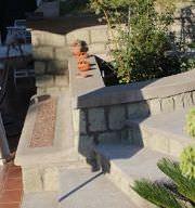 particolare panca nel terrazzamento in giardino (di Ing.Montesano)