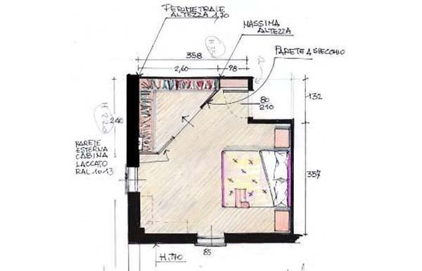 Cabina armadio in mansarda for Prezzi della cabina di tronchi di 3 camere da letto