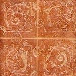 Piastrelle in ceramica monocottura con decorazioni ispirate al mondo dei fossili, commercializzate dalla ditta Inter-Store.