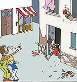 È molto pericoloso fuggire durante una scossa di terremoto, perché uscendo da un edificio si potrebbe venire travolti dal crollo di cornicioni, calcinacci e oggetti sospesi.