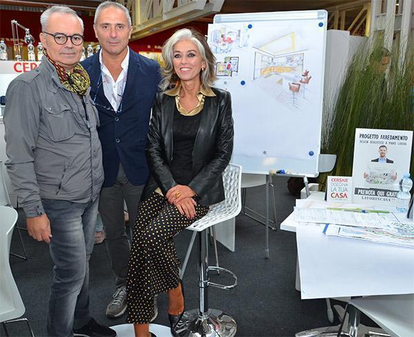 Paola Marella in visita allo stand di LAVORINCASA.it