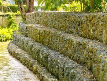 Muri di sostegno con gabbioni