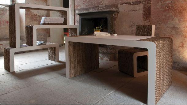 mobili in cartone  di Pamio design
