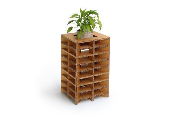Porta piante in cartone tessa-avana di Nardi