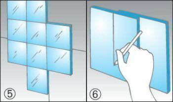 Applicare le piastrelle a specchio