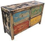 Mobile basso realizzato con legno recuperato, di Etnic Art