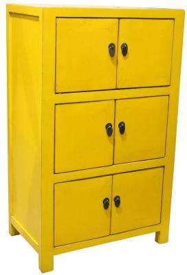 Mobiletto credenza cinese giallo sun By Etnicart