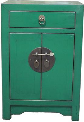 Mobiletto basso stile cinese verde Etnicart