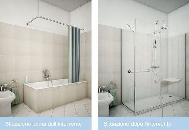 Come rinnovare il bagno in poco tempo for Pannelli rivestimento doccia