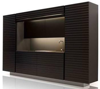 Un blocco cucina moderno con i sistemi Alurol di FBS Profilati
