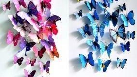 Elementi d'arredo a forma di farfalla