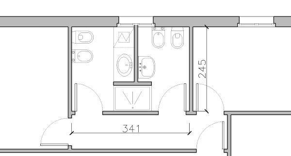 Doccia passante - Dividere una camera in due ...