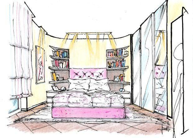 Parete letto in cartongesso - Camere da letto con libreria ...