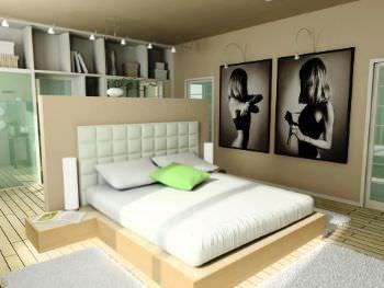 Parete letto in cartongesso - Rivestimento parete camera da letto ...