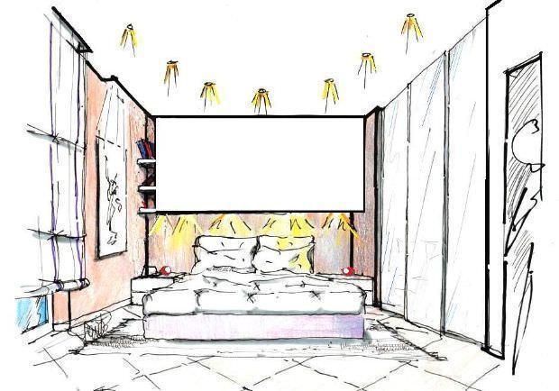 Parete letto in cartongesso for Camera da letto sopra il garage