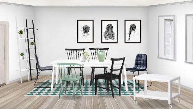 Tavoli Pranzo Soggiorno : Sala da pranzo con design scandinavo