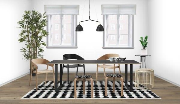 Sala da pranzo con design scandinavo