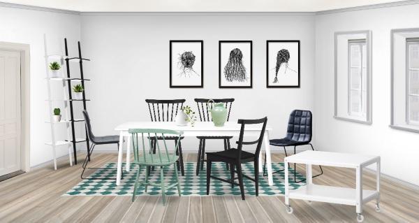Sala da pranzo con design scandinavo - Tappeti per sala da pranzo ...