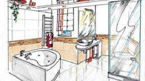 Vasca angolare in bagno