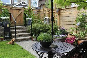 giardino, progettazione - Piccolo Giardino Con Ghiaia