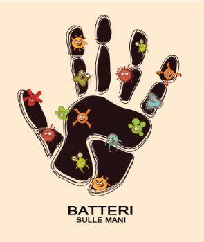 Mani contaminate da batteri