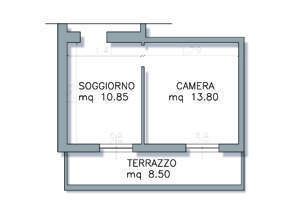 progettare cucina e soggiorno - Soggiorno Cucina 40 Mq