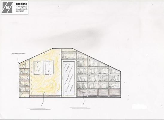 Prospetto libreria a giorno