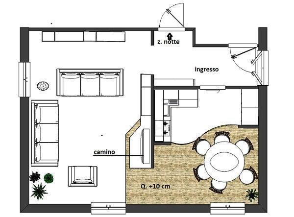 Camino tra cucina e soggiorno idea creativa della casa e for E design della casa