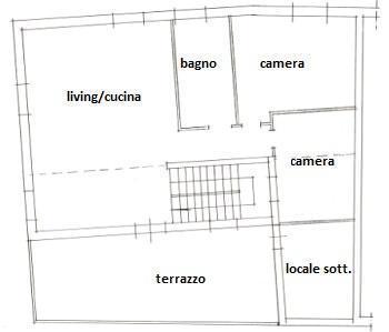 Camino tra soggiorno e cucina for Controlla permesso di soggiorno poste