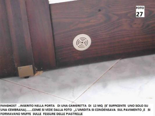 Installazione sifone atmosferico sulla porta
