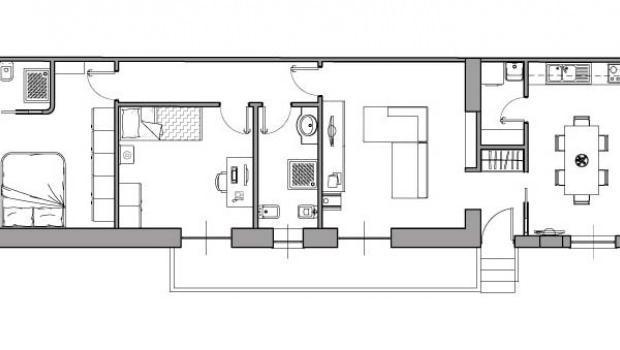 Casa di 80 mq 5 idee di progetto for Progetto ristrutturazione casa gratis