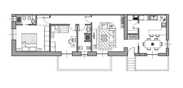 Casa di 80 mq 5 idee di progetto for 3 piani di camera da letto 2 bagni piani 1 storia