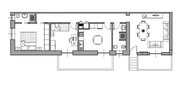 Casa di 80 mq 5 idee di progetto - Planimetria camera da letto ...