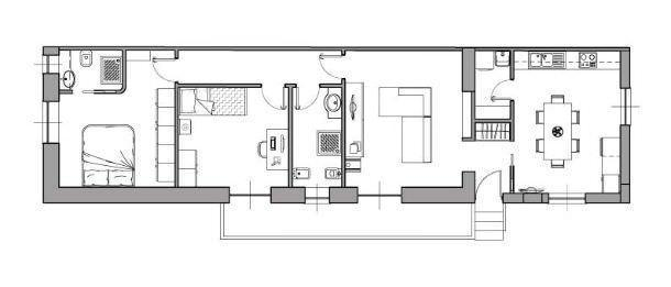 Casa di 80 mq 5 idee di progetto for 6 piani di casa colonica di 6 camere da letto