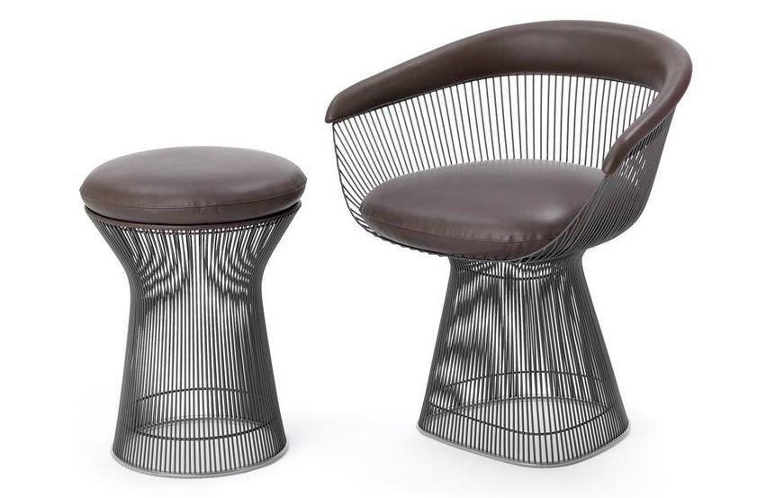 Tondini in acciaio come struttura per sedie for Sedie design knoll