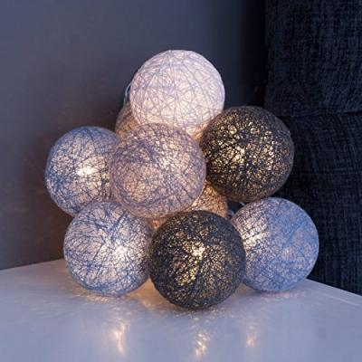 Palline natalizie decori con luci a led di Amazon