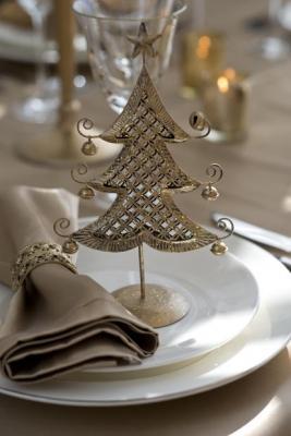 Decori natalizi per la tavola