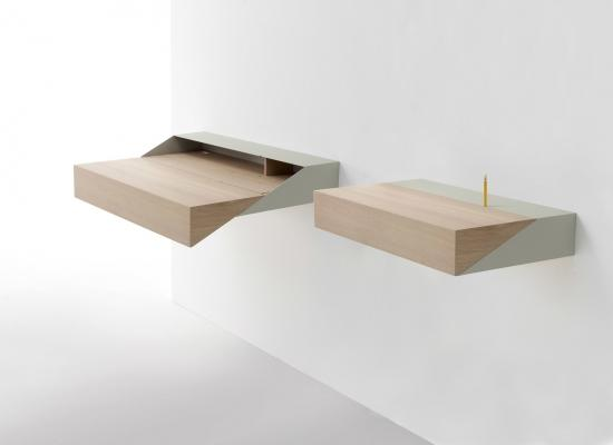 Scrittoio salvaspazio Desk di Raw edges Design Studio