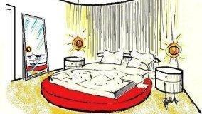 Progetto per letto rotondo