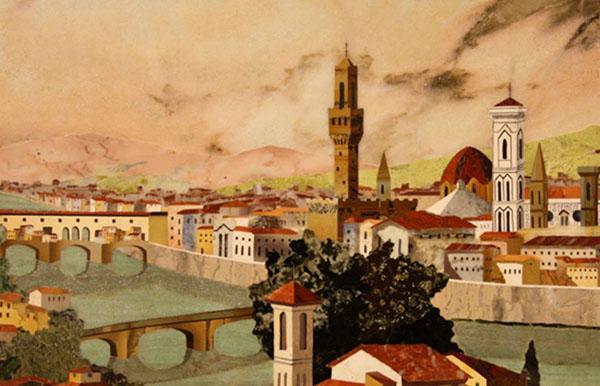 Veduta di Firenze.