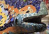 Particolare della Salamandra all'ingresso del parco.