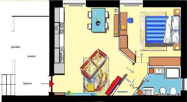 Bilocale 38 mq come progettarlo for Piccoli progetti di casa gratuiti